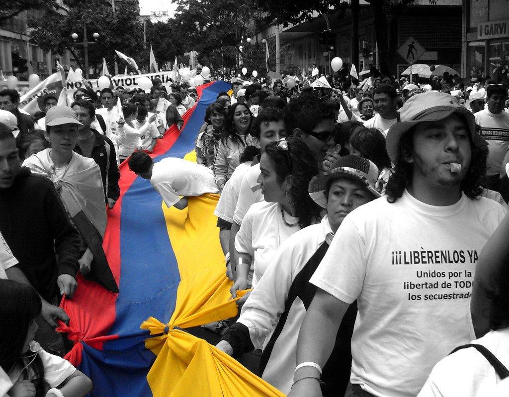 Marche pour la libération d'otages en 2008