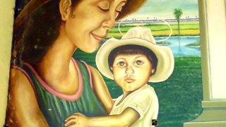 Peintures typiques de l'église de la Macarena