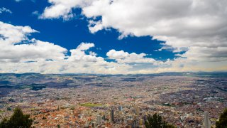 The city of Bogota in Colombia