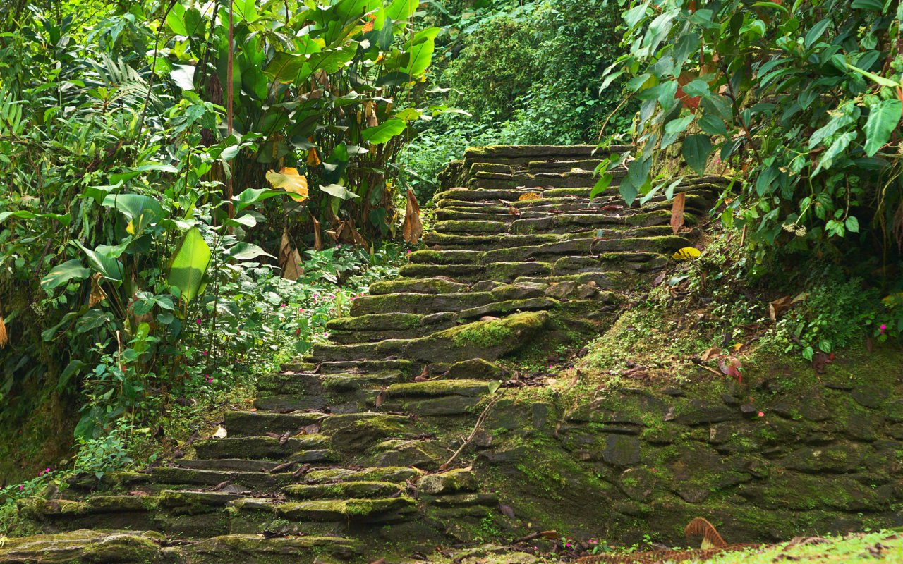 The steps of the lost city in Colombia
