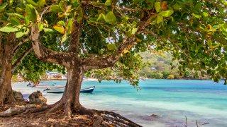 Plage de Sapzurro sur la cote Caraïbe dans le Darien