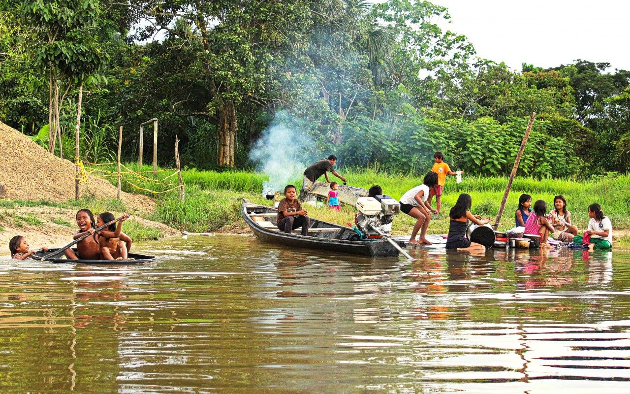 Peuple indigène en Amazonie colombienne