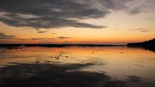 Coucher de soleil en Amazonie colombienne