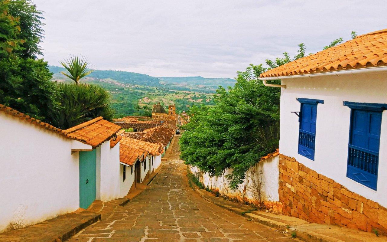 Ruelles de Barichara dans le Santander en Colombie