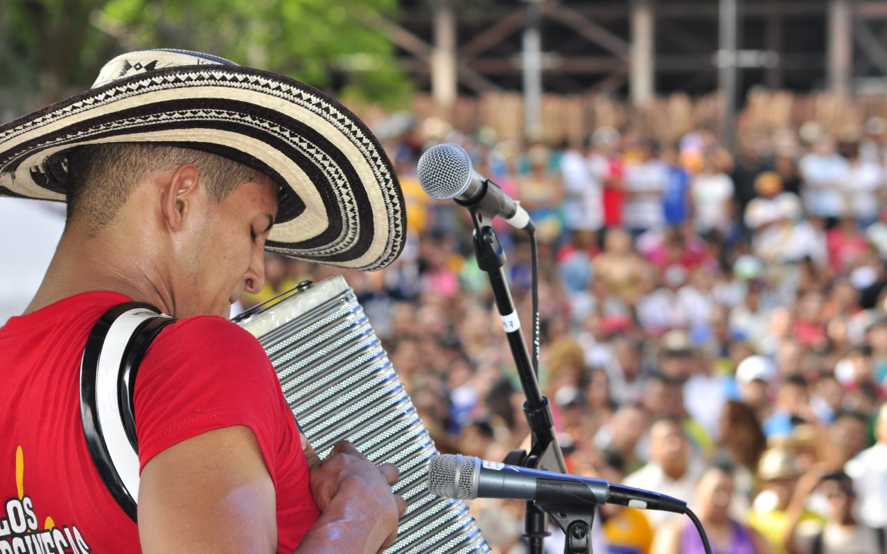 Accordionist of vallenato
