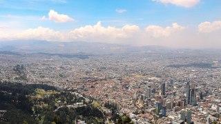 Panorama de la ville de Bogota en Colombie