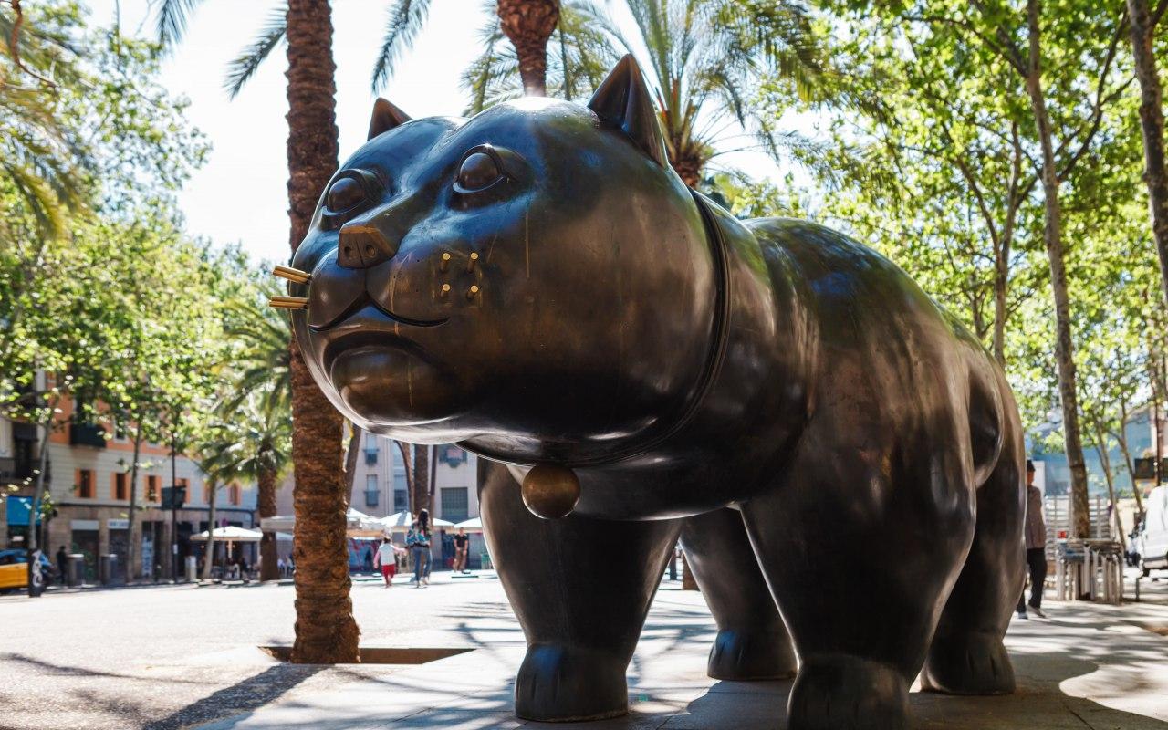 Le Gros Chat de Botero en Espagne