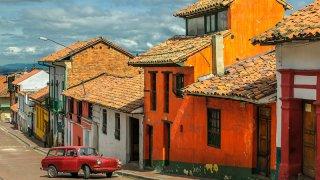 Quartier de la Candelaria à Bogota en Colombie