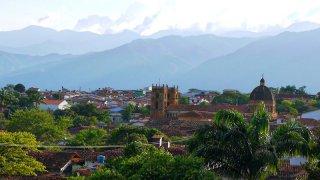 Vue sur la ville de Barichara en Colombie