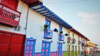 Le village de Salento dans la région du café