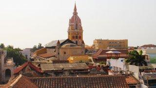Les clochers du centre historique de Carthagène des Indes