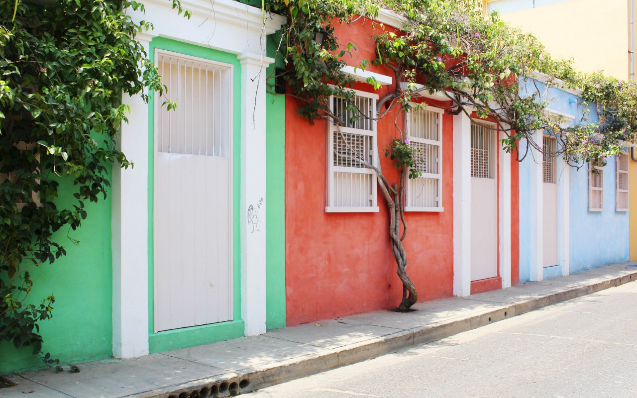 Les ruelles colorées de Carthagène