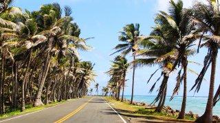 Les routes de la petite ile de San Andres en Colombie