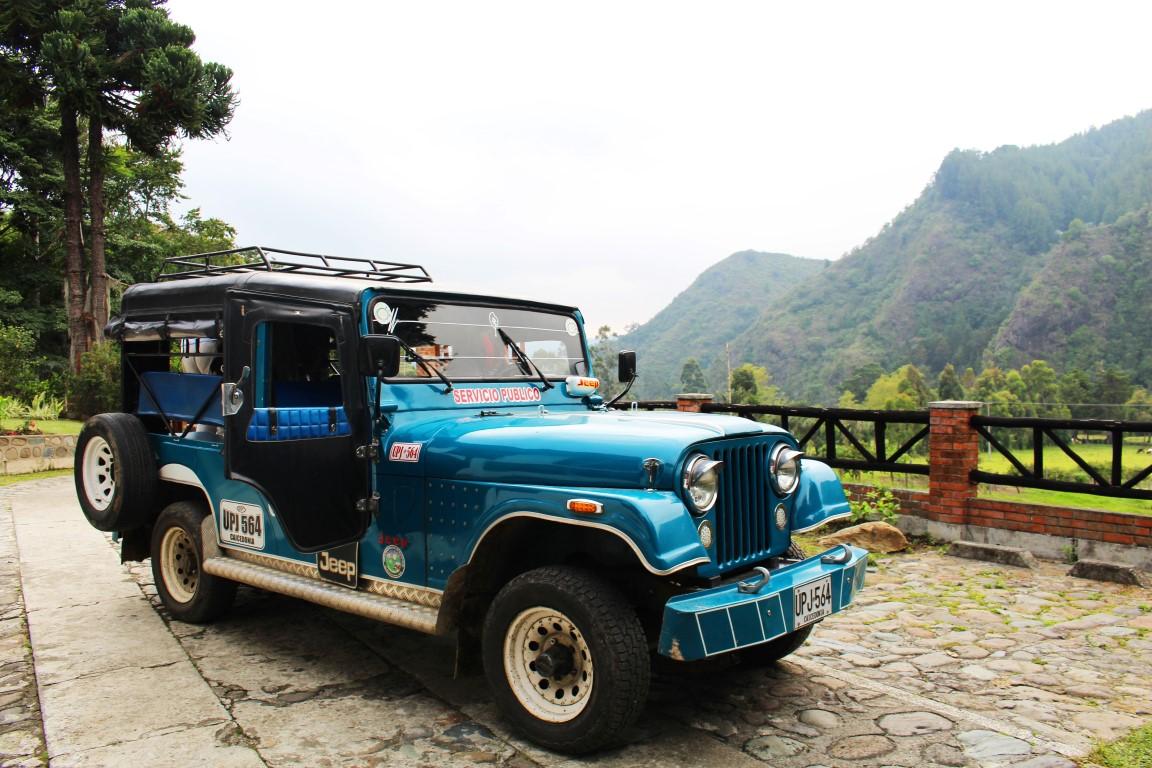 Jeep Willys near Salento in the coffee region