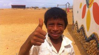 A wayuu child in Guajira, Colombia