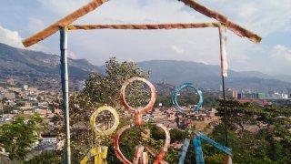 Le quartier populaire de Moravia à Medellin