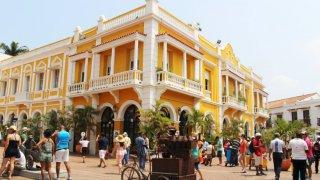 Dans les rues colorées de Carthagène en Colombie