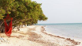 La presqu'île de Baru dans l'archipel du Rosaire en Colombie