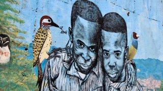 Street art paix Medellin