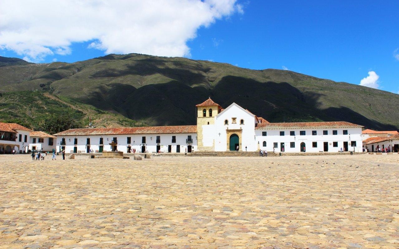 Village of Villa de Leyva in Colombia