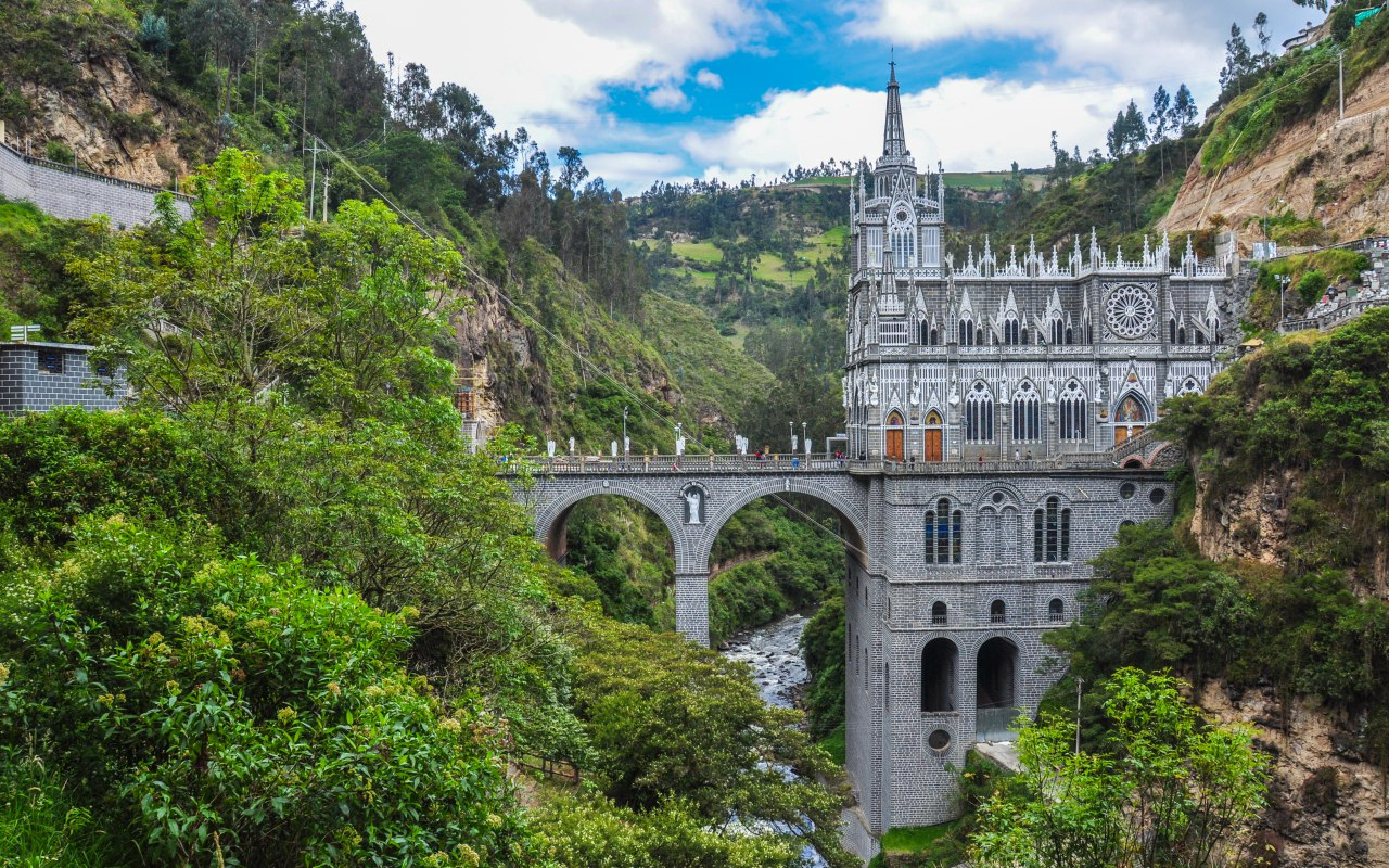 Las Lajas in southern Colombia