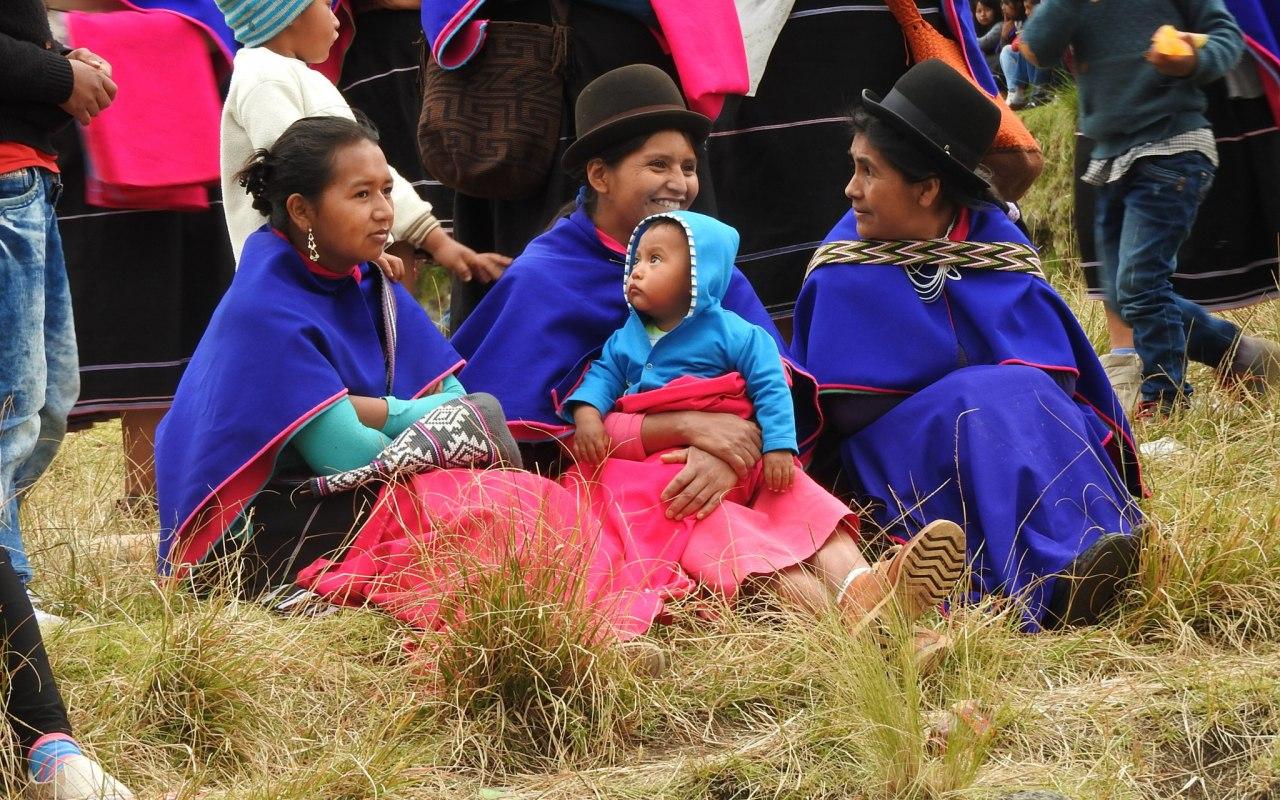 Guambianos women in Silvia, Colombia