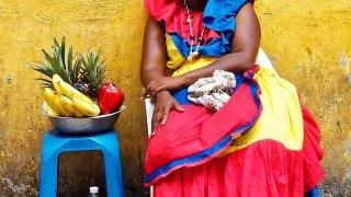 Les Palenqueras des rues de Carthagène en Colombie