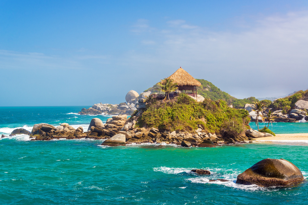 In the heart of Tayrona Park in Colombia